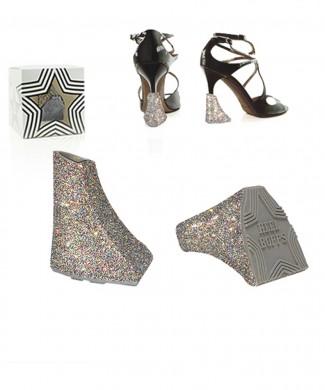 Heelbopps StarDust Silver add-on Styling heels